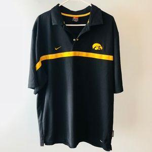 Nike Team Dri-Fit Iowa Hawkeyes Black Polo Shirt M